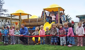 The opening of the new playground at Outram Playcentre
