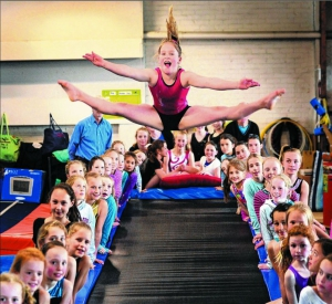 This PlayGear™ by AJ Grant gymnastic trampoline is used as a tumbling track at the Dunedin Gymnastic Academy.