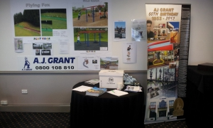 Playgear exhibit at the NZAIMS conference in Queenstown