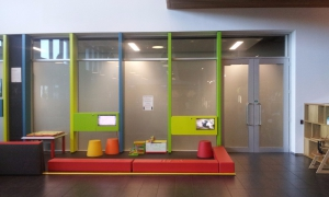 A photo before the new Plaza Indoor Play Area was installed.