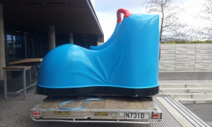 The boot slide delivered on site ready for installed.
