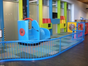 The completed Plaza Indoor Play Area manufactureed and installed byPlaygear™ by A.J Grant, ready for children to have their first turn.