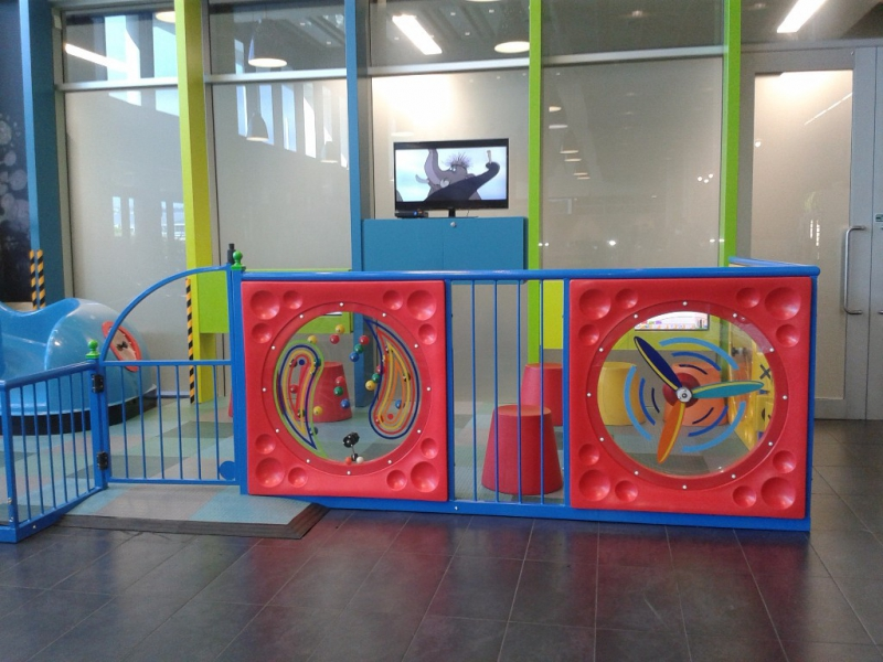 Completed play area with fun filled activity panels installed by Playgear™ by A.J Grant
