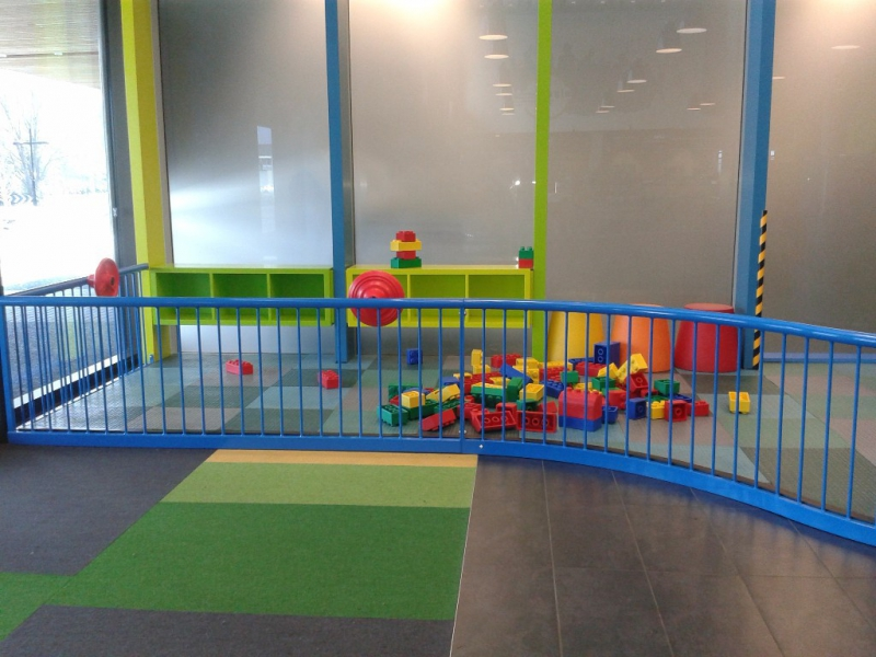 Part of the Indoor play areaPlaygear™ by A.J Grant seen here with the cafe's giant building blocks.