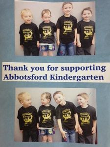 Thank you A.J Grant for supporting Abbotsford Kindergarten