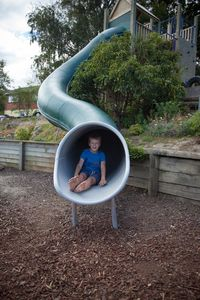 PLAYGEAR™Long Fibreglass Tunnel Slide by A.J Grant