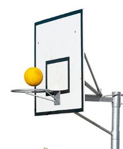 Deluxe Basketball Stand by Otago Engineering.